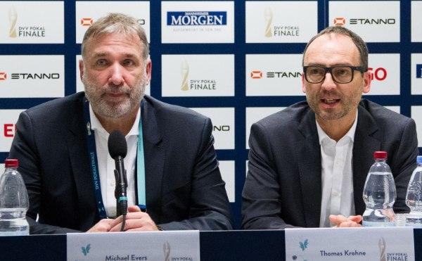 VBL-Präsident Michael Evers und DVV-Präsident Thomas Krohne (Foto: Nils Wüchner, nils-wuechner.de)