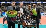VBL-Präsident Michael Evers, die Ex-Bundestrainer Vital Heynen und Giovanni Guidetti sowie DVV-Präsident Thomas Krohne (Foto: Conny Kurth, kurth-media.de)