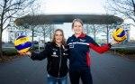 Die Schwerinern Lenka Dürr (links) und Stuttgarterin Deborah van Daelen freuen sich auf ein großartiges Finale in der SAP Arena (Quelle: Nils Wüchner, nils-wuechner.de)
