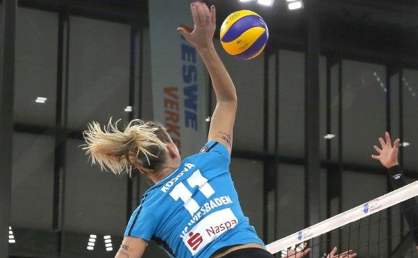 Mittelblockerin Simona Košova hinterließ am Montag einen starken Eindruck (Foto: Detlef Gottwald)