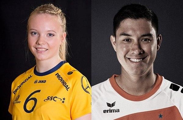 Jennifer Geerties (Schweriner SC) und Erik Shoji (BR Volleys) agierten in den Playoffs in der Annahme am stärksten (Foto: SSC / BRV)