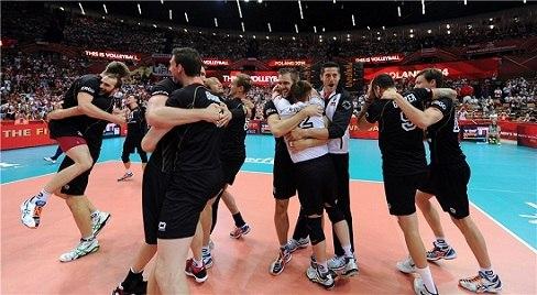 Freude bei den deutschen Volleyballern (Foto: FIVB)