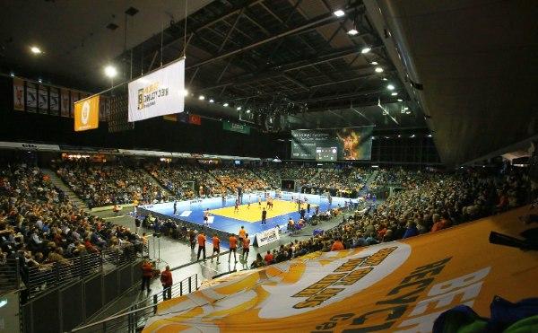 """Die BR Volleys qualifizierten sich in der Champions League gegen Istanbul BBSK für das """"Playoff 6"""" (Foto: Eckhard Herfet, CEV)"""