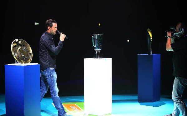 Moderator Matthias Killing unterhielt das Publikum auch beim Volleyball Supercup 2016/17 (Foto: Eckhard Herfet)