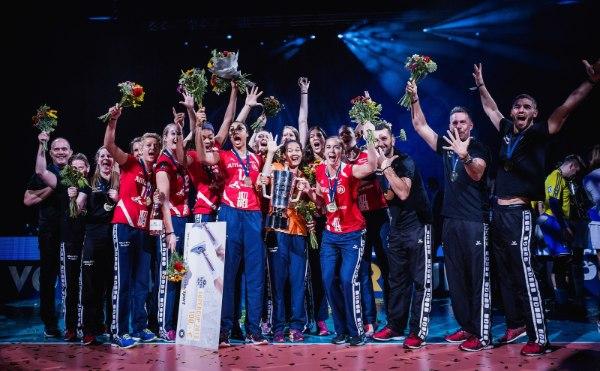 Der Allianz MTV Stuttgart durfte im letzten Jahr über den Gewinn des Supercups jubeln und kommt somit als Titelverteidiger nach Hannover (Foto: Sebastian Wells, sebastianwells.de)