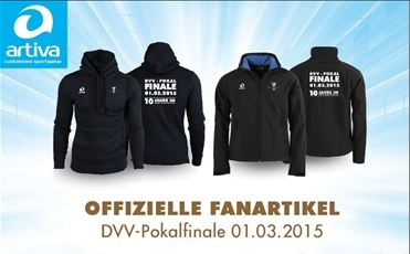 Die offizielle Fankollektion zum DVV-Pokalfinale 2015 (Quelle: artiva sports)