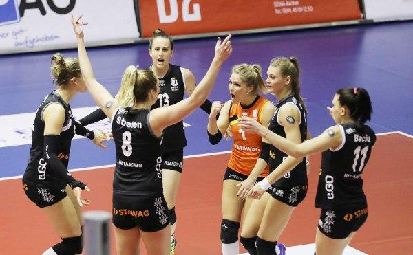 Die Ladies in Black Aachen treffen im Playoff-Viertelfinale auf den SSC Palmberg Schwerin (Foto: LiB Aachen)