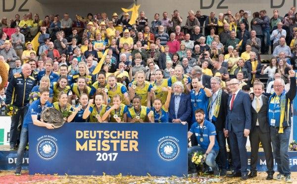 Der Jubel in Schwerin beim Gewinn der Meisterschaft war riesengroß (Foto: Erhard Heiden/EH Foto)