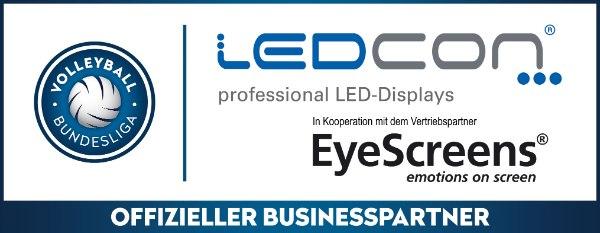LEDCON Systems GmbH wird Businesspartner der Volleyball Bundesliga